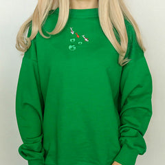 Koi Fish Embroidered Sweatshirt
