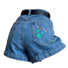 koi fish embroidered shorts boogzel apparel