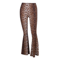 Leopard Flared Tousers boogzel
