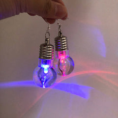 light up bulb earrings boogzel apparel