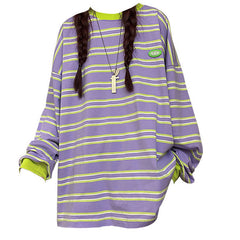 aesthetic striped sweatshirt boogzel apparel