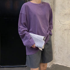 buy purple long sleeve aesthetic soft grunge