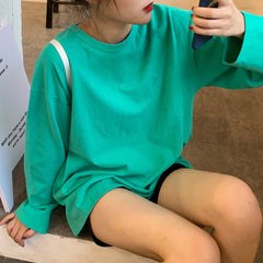 buy green long sleeve aesthetic soft grunge