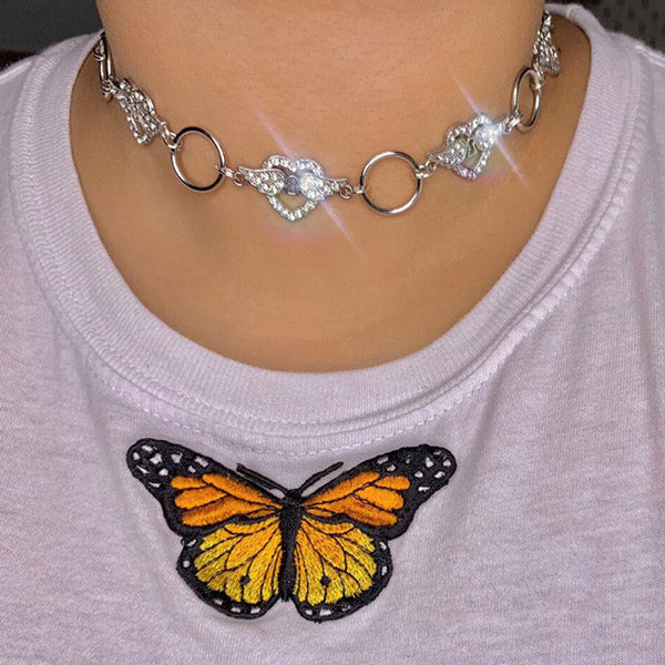 Wings Of Angel Choker Necklace