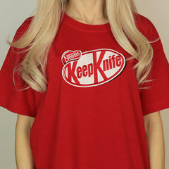 Keep Knife T-Shirt kit kat candy tshirt boogzel
