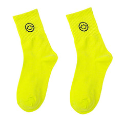 smile neon socks boogzel apparel