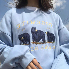 blue Nevada Bear Sweatshirt boogzel apparel