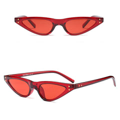 red cat eyes sunglasses boogzel apparel