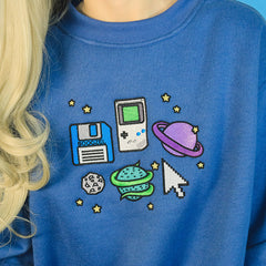 blue space Sweatshirt buy boogzel apparel