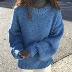 blue oversized sweater grunge boogzel