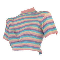 Pastel Sweetz Ribbed Top