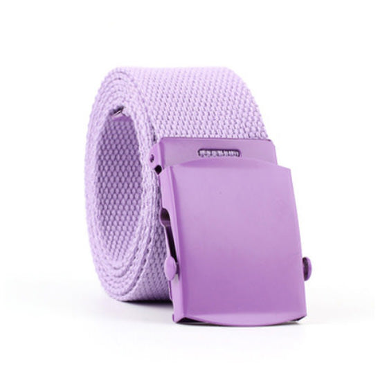 Pretty in Pastel Canvas Belt