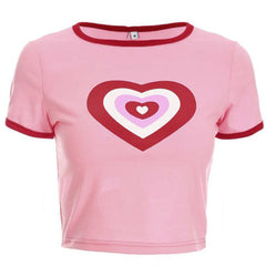 pink heart crop top boogzel apparel