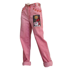 The Sun Tarot Jeans in Pink