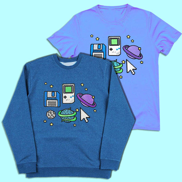Pixel Universe Sweat + Tee SET