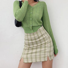plaid grunge Skirt boogzel apparel grunge outfit