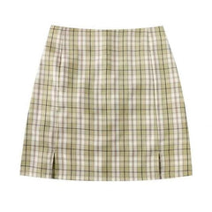plaid grunge Skirt boogzel apparel