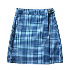 blue plaid skirt boogzel apparel