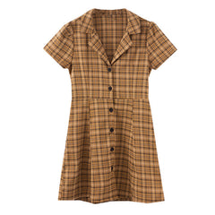 yellow plaid collar dress boogzel apparel