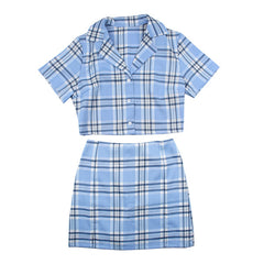 plaid top skirt coord boogzel apparel