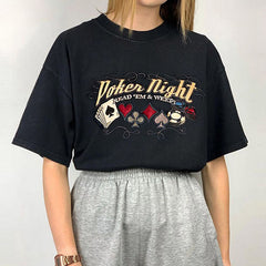 Poker Night Embroidered T-Shirt