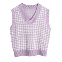 Dogtooth Check Vest