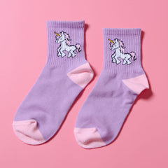Purple Unicorn Socks boogzel apparel