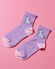 Purple Unicorn Socks boogzel apparel shop usa uk