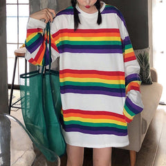 rainbow long sleeve t-shirt boogzel apparel