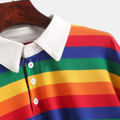 Rainbow Collared Top