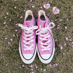 pink flower shoe laces boogzel apparel