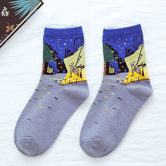 The Night Cafe Van Gogh Socks
