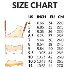 shoes size chart boogzel apparel