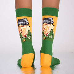 Van gogh self portrait socks boogzel apparel