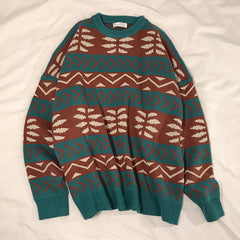 green vintage sweater boogzel