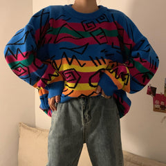 vintage retro aesthetic sweater boogzel apparel