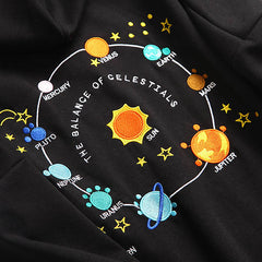 Solar System space embroidery  Hoodie boogzel apparel