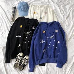 space embroidery hoodie