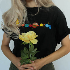 aesthetic planet solar system space t-shirt boogzel apparel