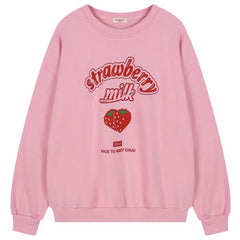 Strawberry Milk Sweatshirt boogzel apparel