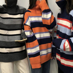 Striped Roll Neck Sweater