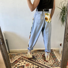 Sunflowers High Waist Jeans