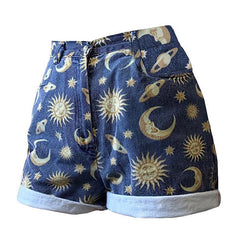 Sun and Moon shorts jeans denim boogzel apparel