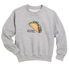 shop grey taco embroidered patch sweatshirt boogzel apparel
