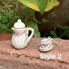 Tea Time aesthetic Earrings boogzel apparel