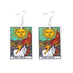 The Sun Tarot Earrings boogzel apparel