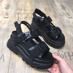 black platform buckle sandals shop boogzel apparel
