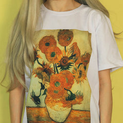 van gogh sunflowers tshirt boogzel apparel