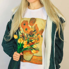 van gogh sunflowers shirt boogzel apparel