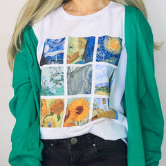 van gogh t-shirt tee shirt painting aesthetic art tumblr soft grunge fashion blog outfit